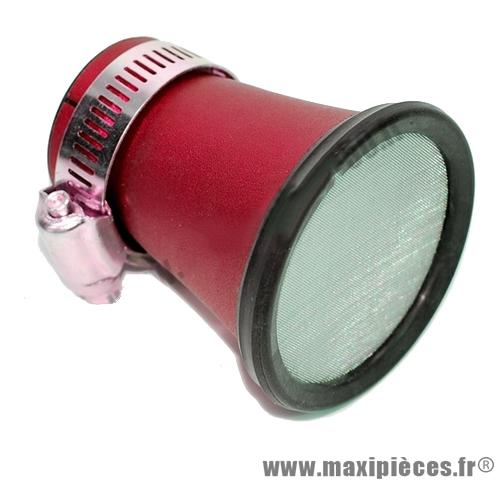 Prix discount ! Filtre à air cornet rouge ø26mm pour carburateur phbg