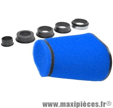 Déstockage ! Filtre a air double big mousse pyramide bleu Ø55/45/42/35/28mm