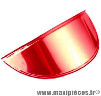 Déstockage ! Casquette de phare rouge anodisé pour Peugeot 103, MBK 51 et autre phare rond