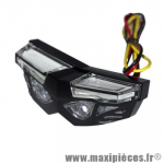 Feu arrière universel à leds mask 3 fonctions feu position et stop (éclairage rouge) + éclairage de plaque (blanc)