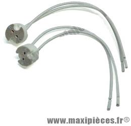 Douille lampe céramique dichroïque (vendu par 2)
