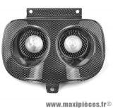 Déstockage ! Phare optique halogène 2x20w imitation carbone mbk Booster Yamaha Bw's avant 2004