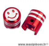 Bouchon de valve en forme de piston rouge (paire) *Prix discount !