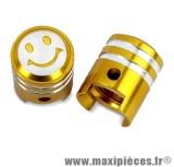 Bouchon de valve en forme de piston or (paire) *Prix discount !