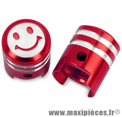 Prix discount ! Bouchon de valve en forme de piston rouge (paire)