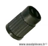 Déstockage ! Bouchon de valve schrader plastique noir avec démonte obus intégré