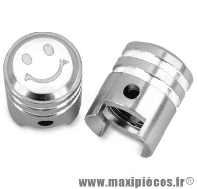 Prix discount ! Bouchon de valve en forme de piston argenté (paire)