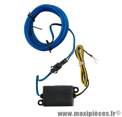 prix discount ! Neon/fil flexible spoke éclairant bleu environ 1mètre éclairage en continu 12v