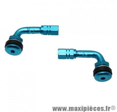 Déstockage ! valve coudé tubeless bleu x2
