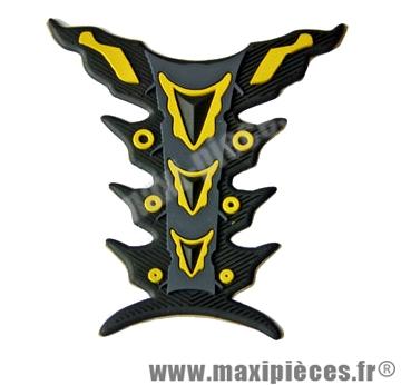 Prix discount ! Protection de réservoir noir/jaune pour moto 50 a boite