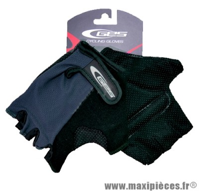 Gants mitaine été basic moto cross vélo cycliste vtt bmx gris/noir taille XL (extra large) (Produits pour le sport/loisir)