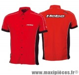 Déstockage ! Chemise Hebo paddock rouge taille M