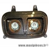 Déstockage ! Phare optique halogène 2x20w imitation carbone mbk Booster, Yamaha Bw's