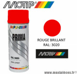 Bombe peinture Motip Prima Dupli Colors Rouge brillant spray (400ml) *Déstockage !