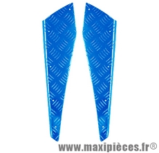 Déstockage ! Marche pieds alu bleu anodisé mbk booster rocket next/yamaha bw's ng