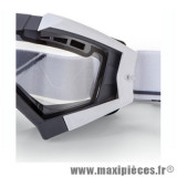 Déstockage ! Support fixation élastique pour Masque/Lunette cross Ariete Riding Crows blanc