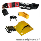 Déstockage ! Pack sécurité antivol pour moto, maxi-scooter, cyclomoteur, scooter, quad