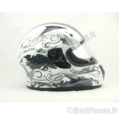 Casque moto scooter fighter blanc S.