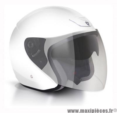 Déstockage ! Casque bol/jet GPA Lazio Taille S (55-56 cm) blanc - double écran solaire