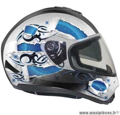 Déstockage ! Casque intégral GPA X13 DS SKIN Taille L (59-60 cm) déco bleu