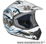 Déstockage ! Casque cross GPA Ventilo Trash Taille XL (61-62 cm) blanc