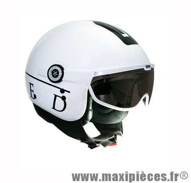 Déstockage ! Casque bol/demi-jet GPA United Heritage  Taille S (55-56 cm) blanc