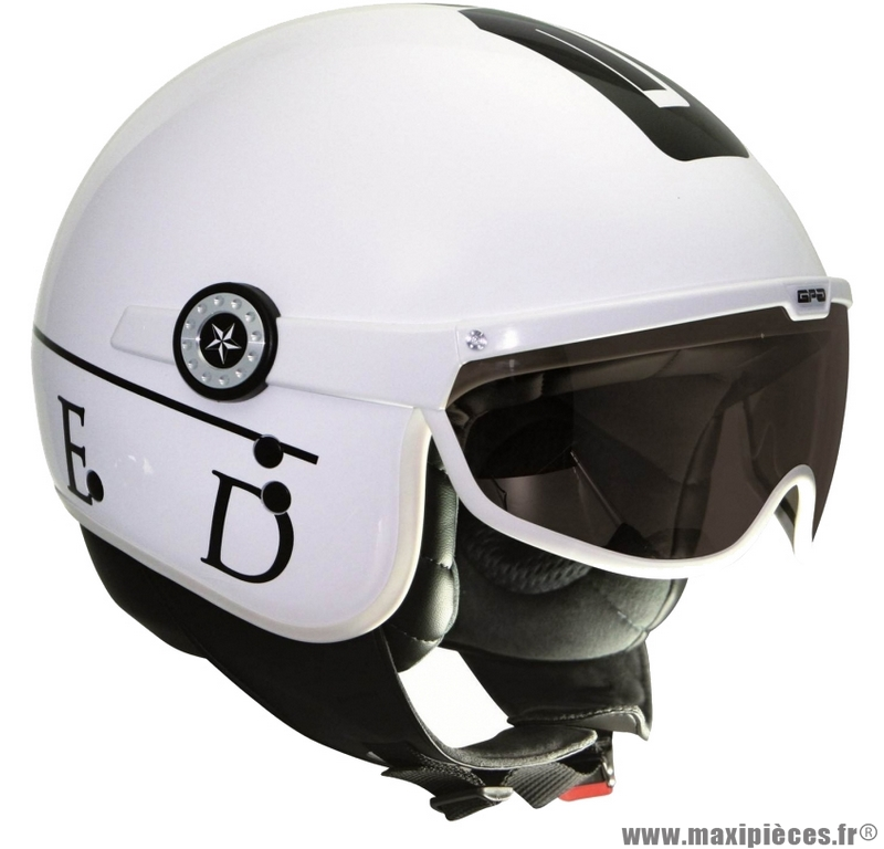 casque jet aviateur gpa united maxi scooter quad m blanc maxi pi ces 50. Black Bedroom Furniture Sets. Home Design Ideas