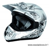 Déstockage ! Casque cross RC Assault Helmets Taille XL (61-62 cm) blanc
