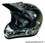Déstockage ! Casque cross RC Assault Helmets Taille XL (61-62 cm) noir