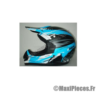 casque moto cross enduro off road bleu maxi pi ces 50. Black Bedroom Furniture Sets. Home Design Ideas