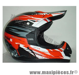casque cross enduro off road 2day rouge maxi pi ces 50. Black Bedroom Furniture Sets. Home Design Ideas
