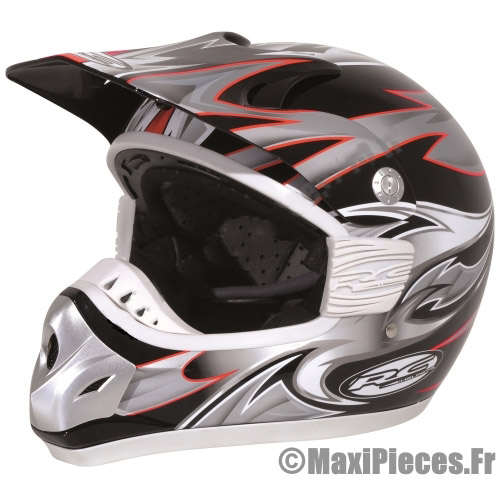 Casque cross noir adulte.