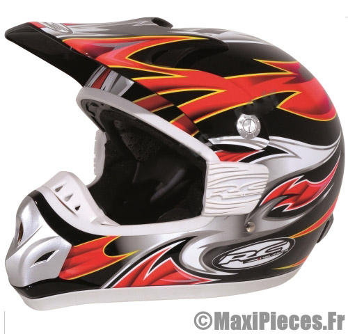 destockage casque moto cross rc assault rouge noir jaune taille l 59 60 ebay. Black Bedroom Furniture Sets. Home Design Ideas