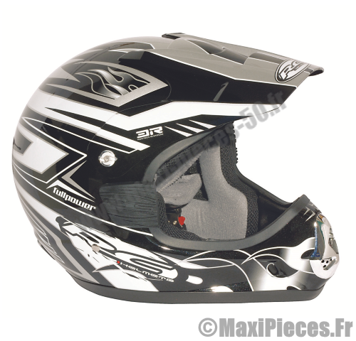 Casque moto cross black XL.