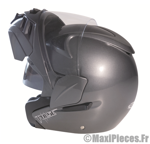 Casque moto scooter RC gris XL.