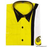 Prix discount ! Chemise brodée manches courtes jaune Conti Racing Parts taille L