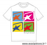 Tee-shirt manches courtes blanc Ariete Memorial taille M *Prix discount !