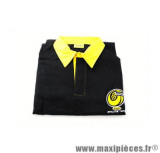 Prix discount ! Polo brodé manches longues noir/jaune Conti Racing Parts taille M