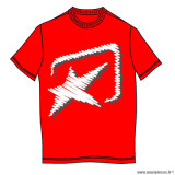 Tee-shirt manches courtes rouge logo Ariete taille L *Prix discount !