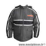 Veste de pluie moto à capuche Wiils taille L gris et noir *Prix discount !