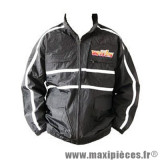 Prix discount ! Veste de pluie noir à capuche Wiils taille L pour moto