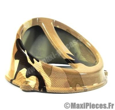 prix discount ! écope de refroidissement universel  camouflage hiver diamètre 132mm pour tous scooter