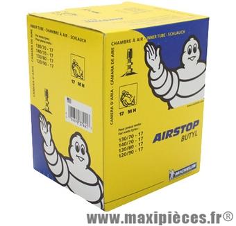 Chambre à air 17 pouces Michelin 17mc 2.25/2.50x17 valve TR4 droite