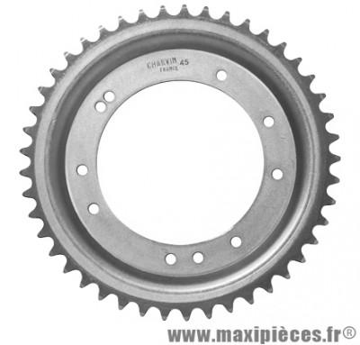 prix discount ! couronne Ø98mm (intérieur) 45dts 10 trous pour MBK 51 roue alu