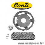 Kit chaine Conti pour derbi senda r classic de 1996 à 1999 420 13x53 (démultiplication origine) * Déstockage !