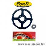 Kit chaine Conti pour Yamaha DT 50 R de 1997 à 2002 Chaine pas 420 pignon sortie de boite 12 dents Couronne 52 dents * Déstockage !