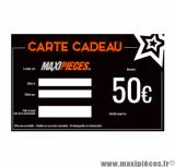 Carte cadeau Maxipièces - Valeur 50 euros