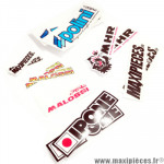 Pack de 14 stickers Malossi, Polini, IPONE, MHR, Maxipièces.fr