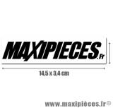 Autocollant Maxipièces noir grand format (14,5 x 3,4cm) à l'unité