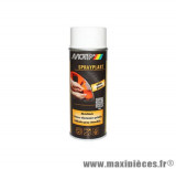 Bombe peinture motip Sprayplast Blanc Brillant spray (400ml) *Prix spécial !